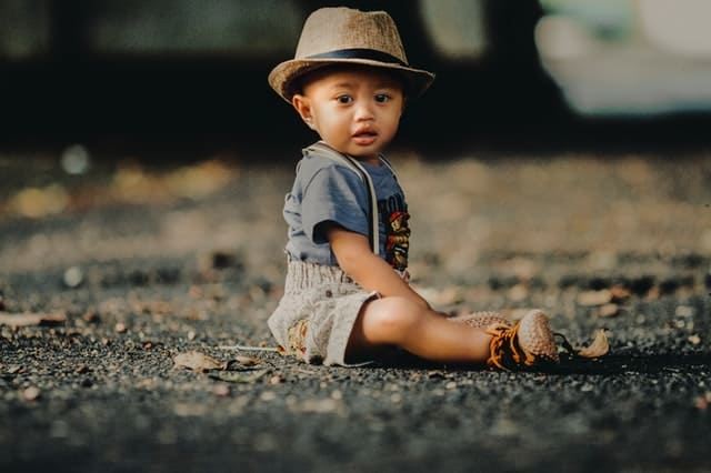 toddler boy with fedora